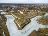 Aerofoto Kuressaare loss ja lossipark Saaremaal