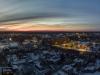 Aerofoto  panoraam loojanguga Kuressaare linnast