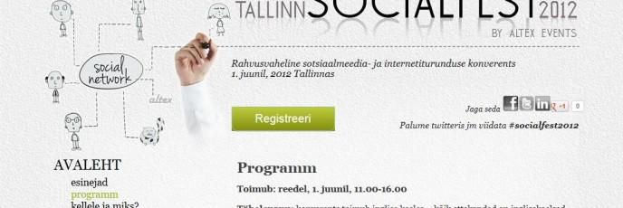 Altex Tallinn Socialfest fotograaf