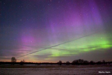 Northerh Lights in Estonia and Panstarrs comet