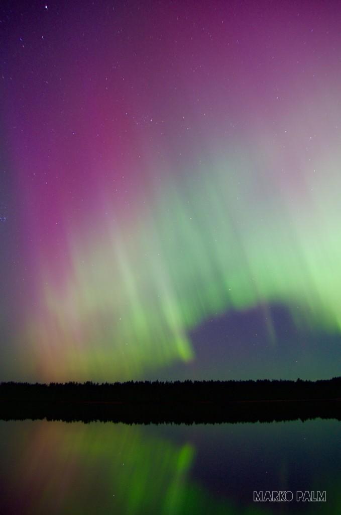 Virmalised Saaremaal Kaarmise järve juures.